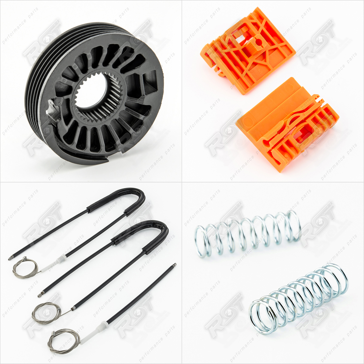 Window regulator repair kit set front left or right for for 2000 audi a4 window regulator replacement